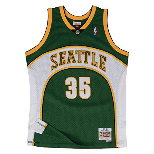 Mitchell & Ness Men's Seattle Supersonics Kevin Durant Swingman Jersey, Green, X-Large