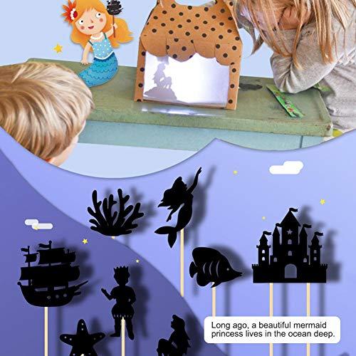 xiangpian183 Marionetas de Sombras Tradicionales Chinas para niños - Juego Educativo de Silueta Marionetas de Mano interesantes Imagen Juego de cognición Entre Padres e Hijos