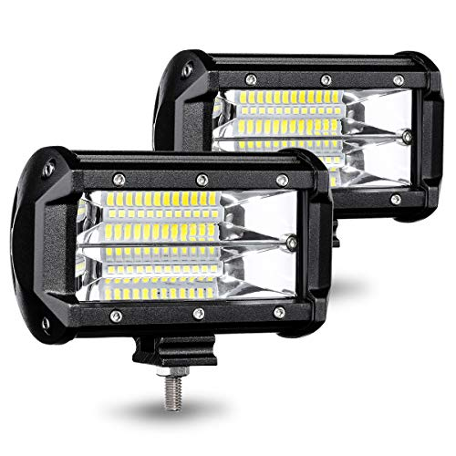 AMBOTHER LED Pods Light Bar 5-Inch Equivalent to 144-watt Driving Fog Off Road Lights LED Cubes Lights for Pickup Truck Jeep ATV UTV SUV Boat, 2 Pack