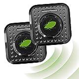 ISOTRONIC Ahuyentador de ácaros e insectos con ultrasonidos | Elimina ácaros e insectos del colchón | Repelente ultrasónico de ácaros / chinches de cama / insectos | Eléctrico (230 V) | Set de 2