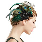Coucoland 1920s Haarclips Pfau Feder