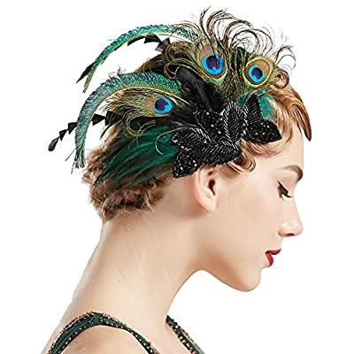 Coucoland 1920s Haarclips Pfau