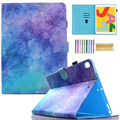 "AMOTIE iPad 10.2 Case 2020 iPad 8th Generation / 2019 iPad 7th Generation Case, Slim Stand Protective Case Folio Cover for 10.2"" iPad 8 2020 / iPad 7 2019, Auto Wake/Sleep, Purple Sparkle"