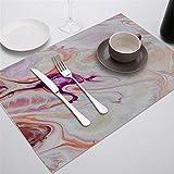 Zfwlkj Tovaglietta Placemat for Tavolo da Pranzo stoviglie da Tavolo Durevole Table tappetini Drink Bevande sottobicchieri Tappetino Table Decorazione Accessori (Color : 930, Size : Cotton Linen)