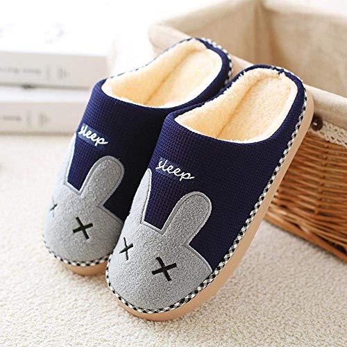 SLM-max Zapatillas Unisex,de Invierno para Mujer, cálidas, de Felpa, de Dibujos Animados, para Amantes del Conejo, Antideslizantes para el Suelo, Zapatos Suaves para Interiores, Calzado para muje