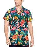 CLUB CUBANA Camisa Hawaiana Florar Casual Manga Corta Ajuste Regular para Hombre XXL