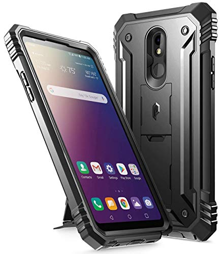 Poetic Revolution Series for LG Stylo 5 /LG Stylo 5X/ LG Stylo 5 Plus/LG Stylo 5V Case, Full-Body Rugged Dual-Layer Shockproof Protective Cover with Kickstand and Built-in-Screen Protector, Black