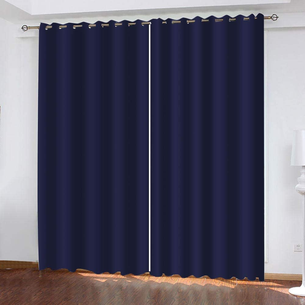 HJLING 3D Printed buttonholes top Memphis Mall Blue 40% OFF Cheap Sale Curtains Creative Window