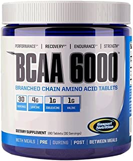 Gaspari Nutrition BCAA 6000 Tablets, 180 Count
