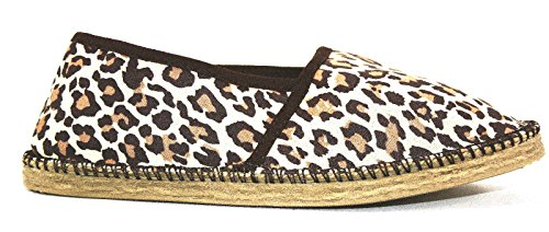 City Walk Espadrilles Espadrillos Espadrille Unisex Canvas Slip-On Strandschuhe (41, Tiger)