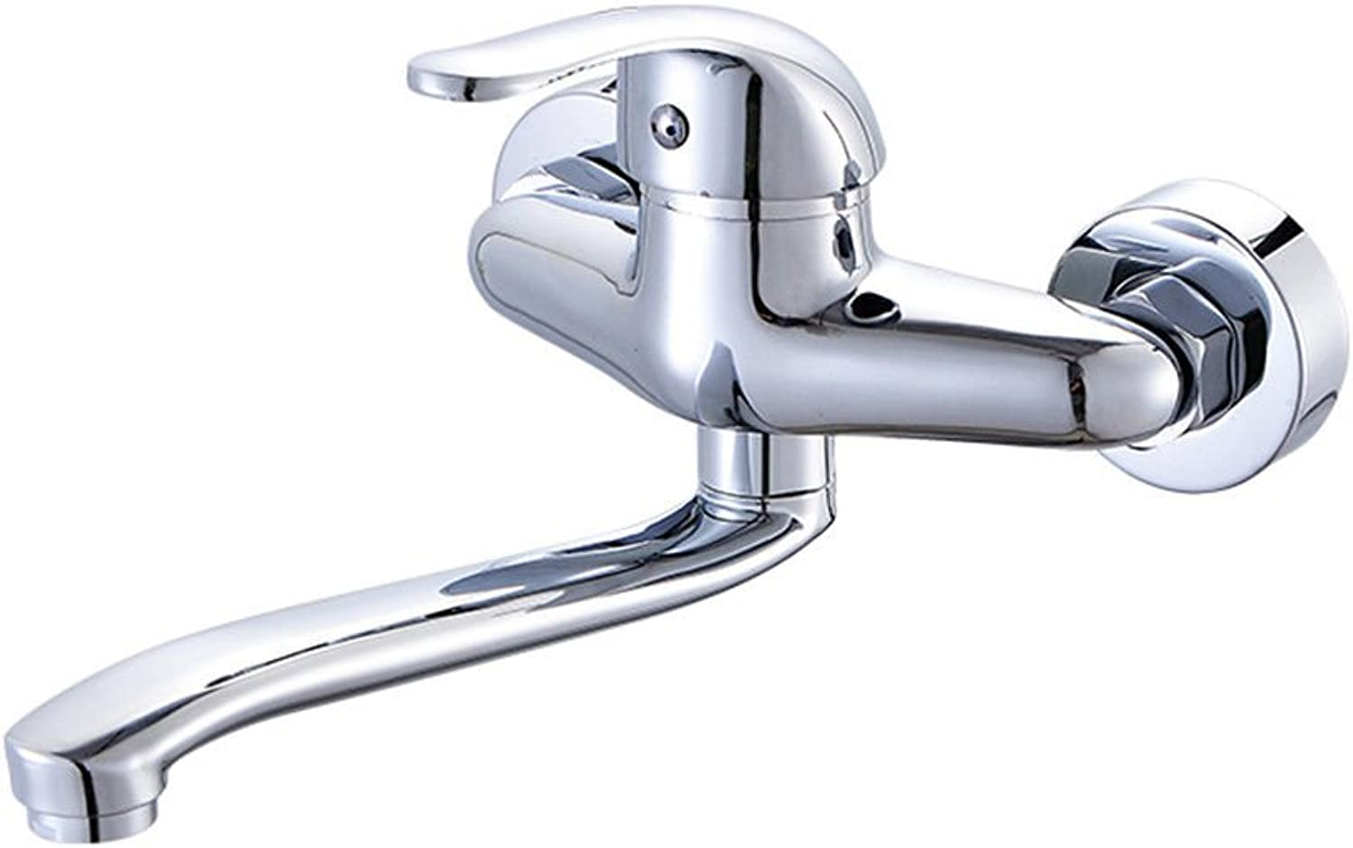 IJIAHOMIE Style of Bathroom Sink Taps, Bathroom Faucets,Waterfall Basin Sink Mixer Tap Modern in-Wall hot and Cold, Kitchen Sink Basin Wall Mounted Double-Deck Double-Hole Laundry Pool, C