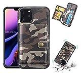 YNLRY Accessoires de téléphone portable pour iPhone 11 Pro Max - Étui portefeuille en cuir...