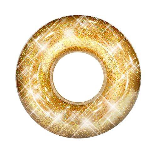 Poolcandy Jumbo Pool Tube, 48', Gold Glitter