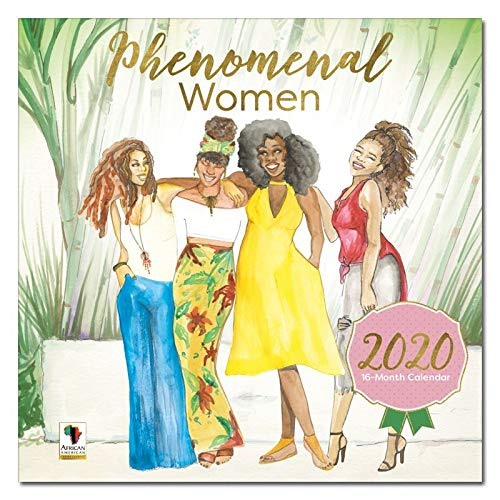 African American Expressions 2020 Wall Calendars - 2020-2021 Monthly Calendars Celebrating Black Culture & History - 12x12 Hanging Calendar - 16 Months - Phenomenal Women