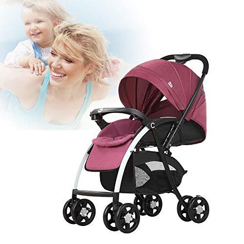 klappbar Buggy Kinderwagen Sportwagen Kinder Wagen Shopper Jogger Kinderbuggy Praktischer, sicherer, komfortabler, stoßdämpfender für Babys bis 25Kg (Rot)