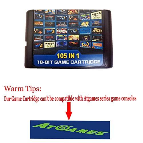 Entrega gratis 105 en 1 para Sega Megadrive Genesis Game Cartridge Incluye Contra Gunstar Heroes de FLORATA