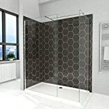 <span class='highlight'>ELEGANT</span> 2 Pieces <span class='highlight'>Walk</span> <span class='highlight'>in</span> <span class='highlight'>Shower</span> Screen Wet Room <span class='highlight'>Shower</span> <span class='highlight'>Enclosure</span> 1850mm Height <span class='highlight'>6mm</span> Tempered Glass with Support Bar 800x<span class='highlight'>700mm</span>