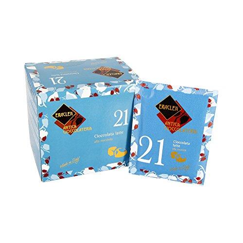 Trinkschokolade Pulver Eraclea Vollmilch Nuss / Nr. 21 - 15 Einzelportionen Pulver, 480 g