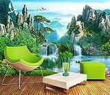 Blovsmile Papel pintado de foto personalizado murales paisaje natural paisaje cascada 3D TV pared papel de parede 3d A-200X150cm(WxH)