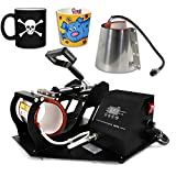 Smartxchoices 2 in 1 Auto Digital Coffee Mug Cup Heat Press Transfer Sublimation Heat...