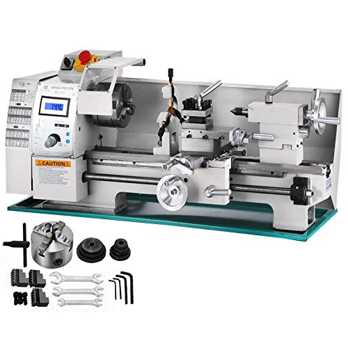 cheap BestEquip Metal Lathe 8×16 inch, 2250 rpm stepless speed mini metal lathe, high precision …