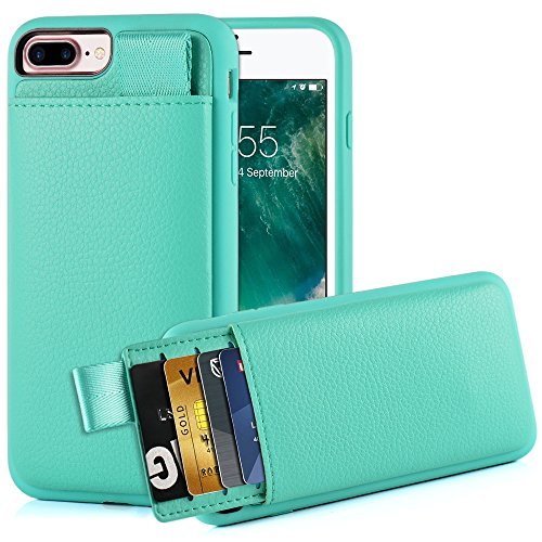 iPhone 8 Plus /7 Plus Card Holder Case, iPhone 7 Plus Wallet Case, LAMEEKU iPhone 7 Plus Leather case with Hidden Credit Card Slot, Protective Cover for Apple iPhone 8 Plus /7 Plus 5.5