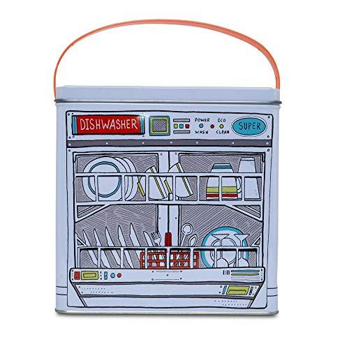 D-Mail Contenitore in Latta per detersivo in Polvere da lavastoviglie