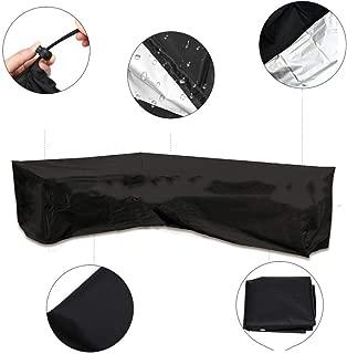 28 Tallas GuoWei Funda Protectora Muebles Jard/ín Cubierta Exterior Impermeable A Prueba De Polvo Protector Solar Rect/ángulo Durable Mesa Al Aire Libre Color : Black, Size : 80x80x80cm