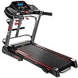 Fitfiu Fitness MC-500 Tapis-Roulant Pieghevole con Cardiofrequenzimetro, Unisex Adulto, Nero, M