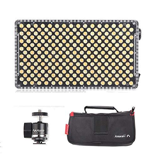 Aputure Amaran AL-F7 auf Kamera LED Video Licht Farbtemperatur 3200-9500K CRI/TLCI 95+ LED-Panel Vielseitige on-Kamera LED-Licht (aktualisierte Version von Aputure Al-H198)