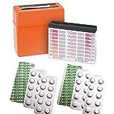 harren24 Pooltester Testkit für pH-Wert/freies Chlor/Brom inkl. 60 Testtabletten (Rapid) in Aufbewahrungsbox, Wassertester