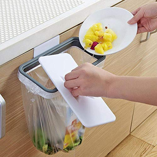 Akamas Müllbeutelhalter zum Aufhängen, Kunststoff, tragbar, Müllbeutelhalter zum Aufhängen, 2 Stück