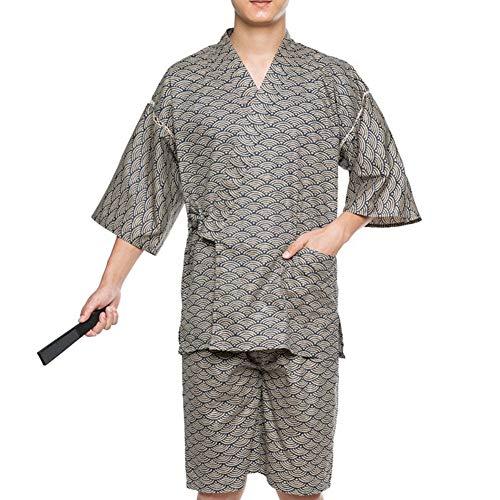 Fancy Pumpkin Kurzer Morgenmantel-Kimono-Pyjama-Anzug der Jinbei-M?nner im japanischen Stil Gr??e XL-A01