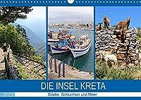 Die Insel Kreta - Staedte, Schluchten und Meer (Wandkalender 2022 DIN A3 quer): Die groesste und schoenste der griechischen Inseln (Monatskalender, 14 Seiten )