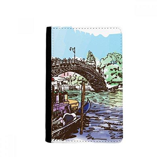 Porta-passaporte da Itália Venice Landmark Watercolour Notecase Burse capa carteira porta-cartões