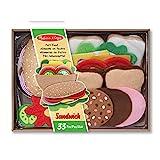 Melissa And Doug | Filz-Lebensmittel-Set Für Belegte Brote | Rollenspielzeug | 3+ years