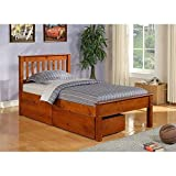 Donco Kids Twin Contempo Bed with Dual Underbed Drawers in Light Espresso