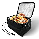 Portable Oven Heated Personal Food Warmer Lunch box(12V Car Druck and 110V Dual Use) For Prepared Meals Reheating & Raw...