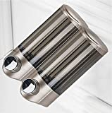 TBSHX Dosificador jabon baño, dispensador Gel hidroalcoholico dispensador de jabon Pared Dispensador de jabón Manual/de Pared(Dorado Los 15,3 * 8,6 * 19,1 cm)