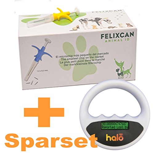 Felixcan 50x Mini Tierchip Mikrochip + Halo Mikrochip Lesegerät