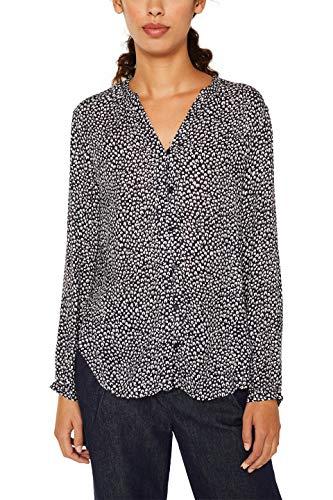 ESPRIT Damen 129Ee1F005 Bluse, Schwarz (Black 3 003), (Herstellergröße: 36)