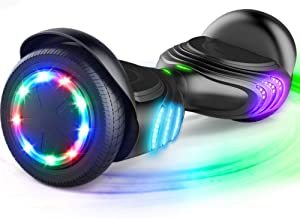 """TOMOLOO Hoverboard with Bluetooth Speaker and LED Lights Self-Balancing Scooter UL2272 Certified 6.5"""" Wheel Electric Scoot..."""