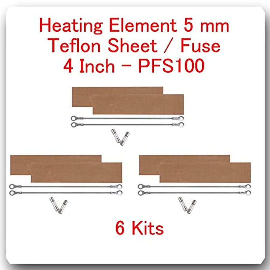 6 Replacement Heating Elements 5 mm + 6 Teflon Sheets for Impulse Sealer 4