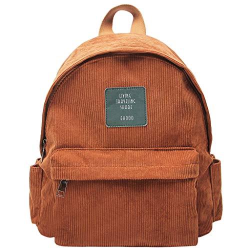 DALIN Damen-Rucksack aus Kord, einfarbig, Tagesrucksack, Schultertasche, Schultasche, Handtasche