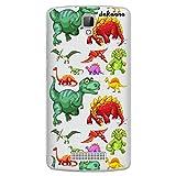 dakanna Funda Compatible con [ ZTE Blade L5 - L5 Plus ] de Silicona Flexible, Dibujo Diseño [ Patrón de Dinosaurio ], Color [Fondo Transparente] Carcasa Case Cover de Gel TPU para Smartphone