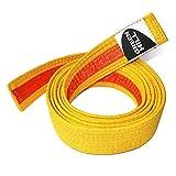 GREEN HILL Cinturón De Judo Karate Artes Marciales De Nivel Intermedio Bicolor Blanco-Amarillo Amarillo-Naranja Naranja-Verde Verde-Azul Azul-Marron Marron-Negro (Amarillo-Naranja, 200 cm)