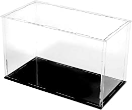 Lanscoe Clear Acrylic Display Case Countertop Box Cube Organizer Stand Dustproof Protection Showcase for Action Figures/Toys/Collectibles (12x4x4 Inch, 30x10x10 cm)
