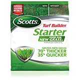 Scotts Turf Builder Starter Food for New GrassFL - 1,000 sq. ft., Lawn Fertilizer for New Lawns and Reseeding, Improves Seeding Results, Grows Strong Roots, Use on All Grass Types, 3.27 lbs.