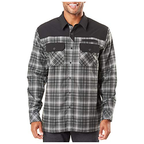 5.11 Tactical Series 511-72468 Chemise Homme, Charcoal Plaid, FR (Taille Fabricant : XL)