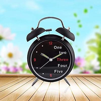 zoomingmingli Despertador Retro 4-Inch Despertador Regalo Creativo De Sonido Reloj Digital Estudiante De Reloj